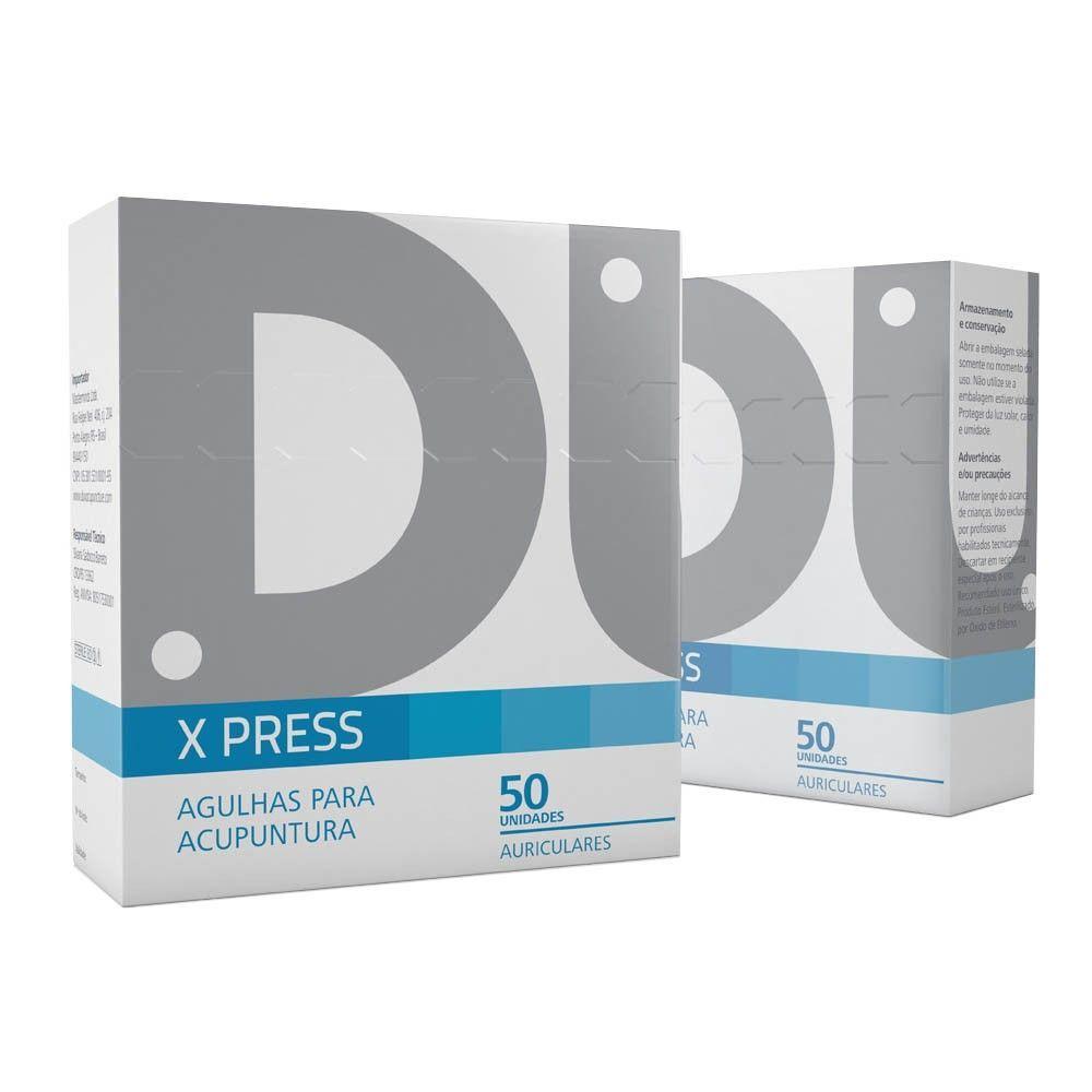Agulha Auricular X-PRESS c/ Micropore 50 unid - Dux
