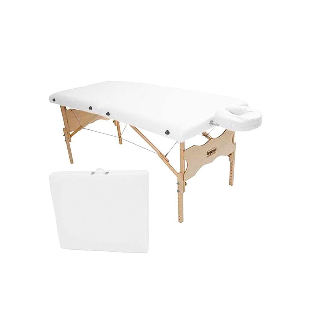 Maca Portátil Antares Spa 80cm - Legno - Cor Branco Brilhante