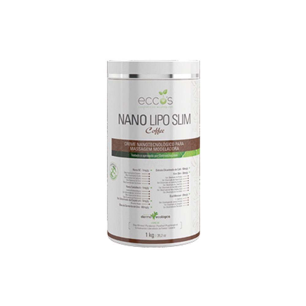 Creme para Massagem Modeladora Nano Lipo Slim Coffee 1Kg Eccos