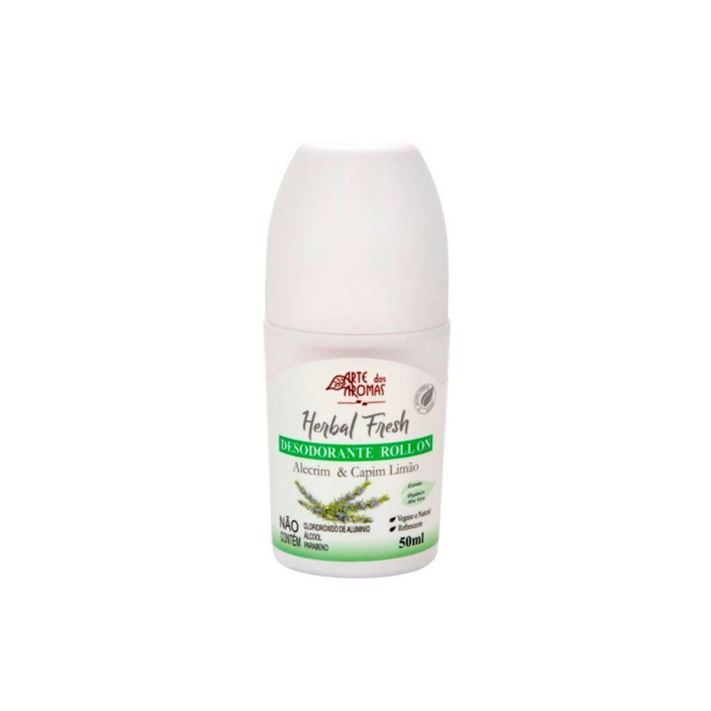 Desodorante Roll on Alecrim & Capim Limão - Natural Vegano 50ml - Arte dos Aromas