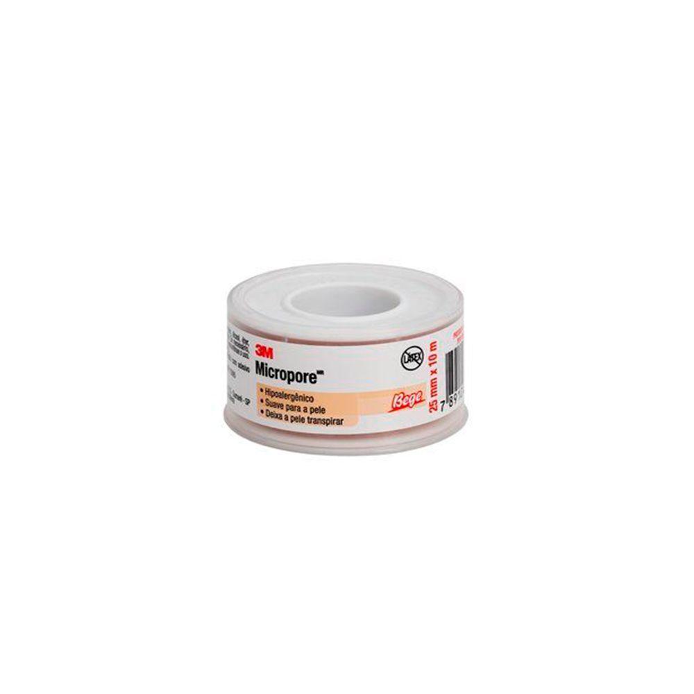 Fita Micropore Hipoalergênica - 25mmx10m - 3M