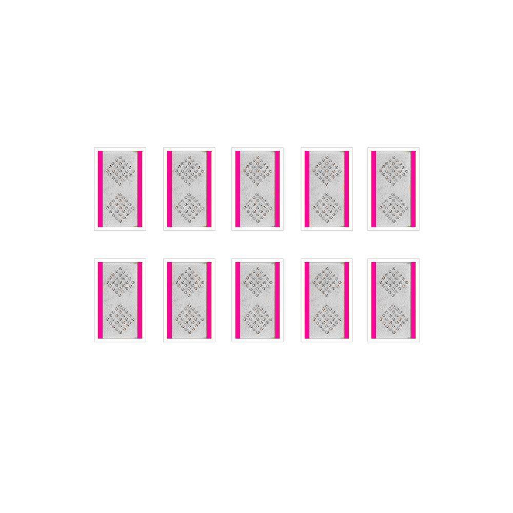 Kit 10 pacotes - Agulha Auricular sem Micropore 50 unidades - Complementar - 2,5mm