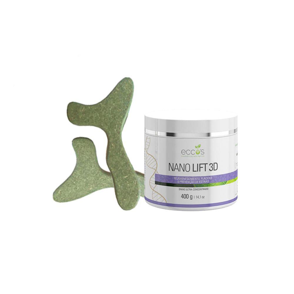 Kit estética - Nano Lift 3D 400gr Eccos + Pantala Sculpt Massage (par)