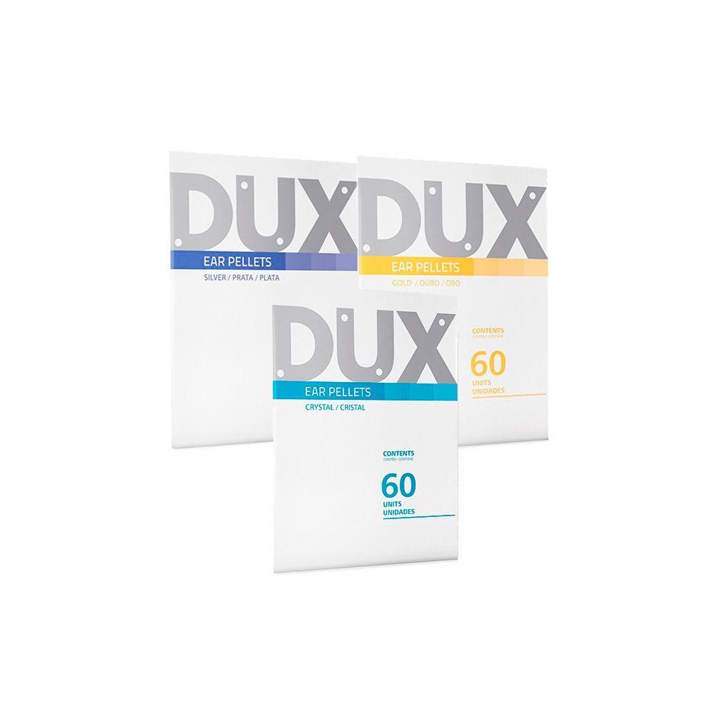 Kit Misto Ponto Esfera Reflexo DUX - 5un Prata + 5un Ouro + 5un Cristal