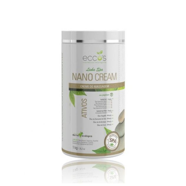 Nano Cream - Creme de Massagem Neutro 1kg - Eccos