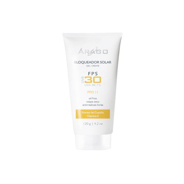Protetor Solar Facial Gel Creme 120g - FPS30 - Arago