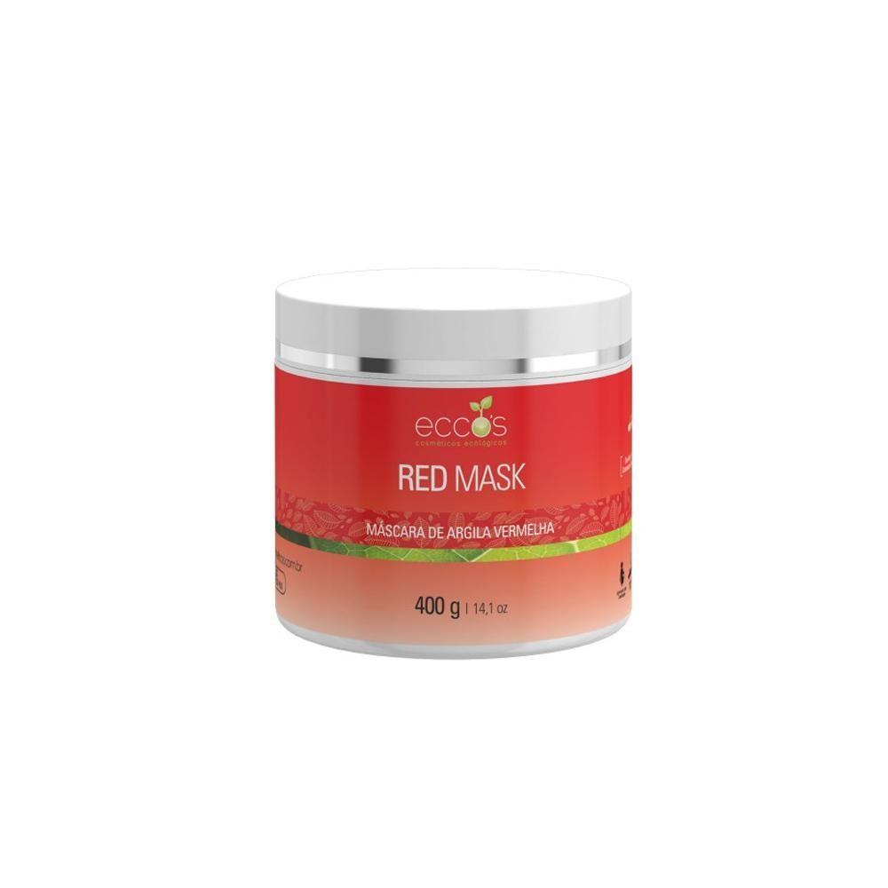Máscara Argila Vermelha - Red Mask 400g - Eccos